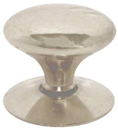 25 mm 1 inch Satin Chrome Plated Victorian Cupboard Knob