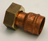 22 mm x 3 / 4 inch Solder Ring Copper Tap Connector sign