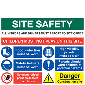 Site safety board inc custom logo sign