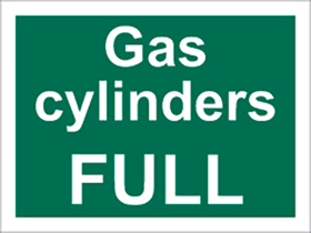 Gas cylinders full sign.