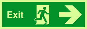 Exit man arrow right sign.