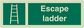 Escape ladder sign.