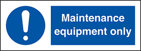 Laser equipment only : pack of 10 labels sign.