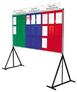 accepts 4 ' x3 ' dry wipe board sign.