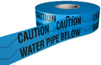 water pipe below detector tape 150mmx100m sign.
