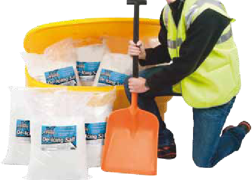 Ideal starter kit to keep your workplace slip free this winter. The 7 bags are sufficient to fully fill the grit bin. 1 x 170 Litre Beehive Grit Bin. 7 x de icing white salts 1 x Large Shovel 1 x Hi-Vis Waistcoat Large.