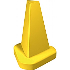 Yellow 510mm cone with your own text sign.