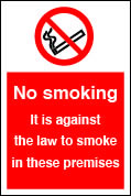 no smoking in these premises sign.