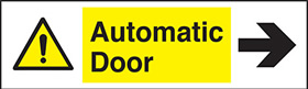 Automatic door right sign.