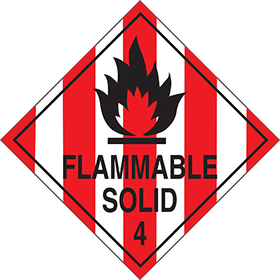 Flammable solid 4 sign.