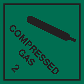Compressed gas 2 sign.