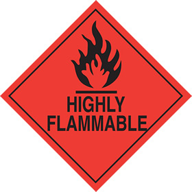 Highly flammable sign.