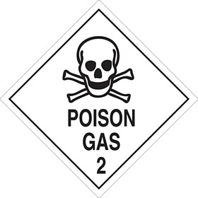 Posion gas 2 sign.