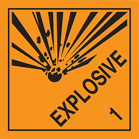 Explosive 1 sign.