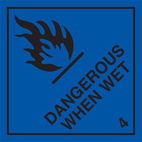 Dangerous when wet 4 sign.