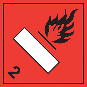 Combustion symbol 2 sign.