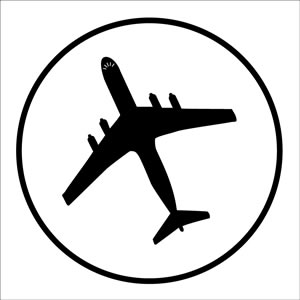 Aircraft symbol 500 roll sign.