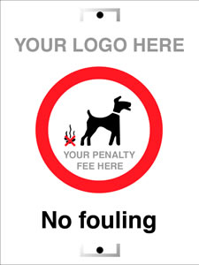 No fouling - add your own penalty fee only sign.