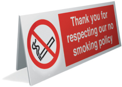 no smoking image thank you for respecting our no smoking policy sign.