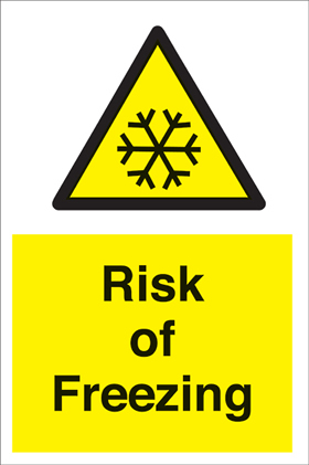 Risk of freezing sign.