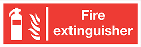 Fire extinguisher extinguisher flames sign.