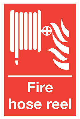 Fire point helmet flames sign.