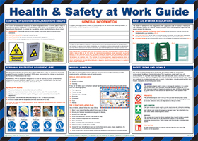 """Health & safety at work guide """"first aid"""" series of posters"" sign."