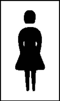 female toilet signs.