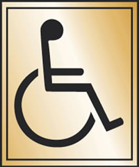 Disabled toilet sign.