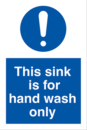 This sink is for hand washing only ! sign.