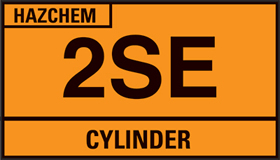 500 x 300mm hazchem tanker plate sign.