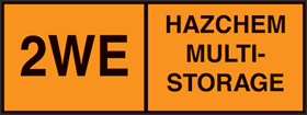 Storage indicator plate hazchem multi- storage mixed hazchem sign sign.