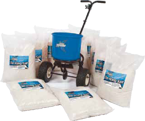 1 x 18kg Spreader 20 x de icing White Salt Keep your people and premises protected this winter. Ideal for large areas which require constant de icing during the winter months.