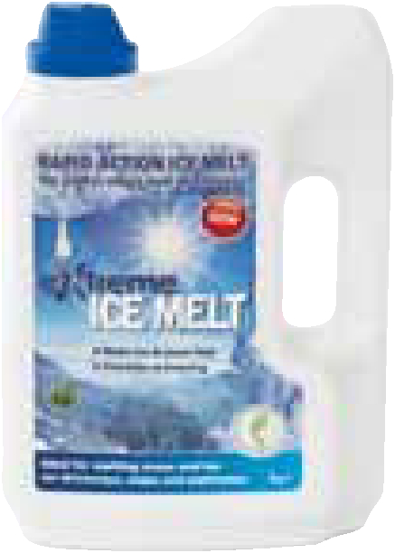 Free flowing de icing salts in a 3kg shaker pack. Stored in a robust container..