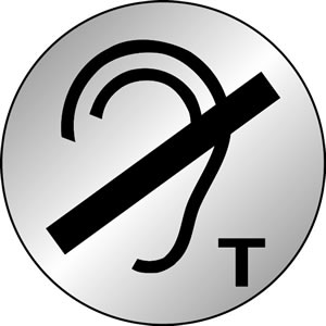 No hearing aids symbol sign.