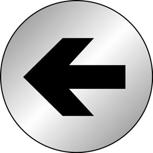 Arrow left sign.