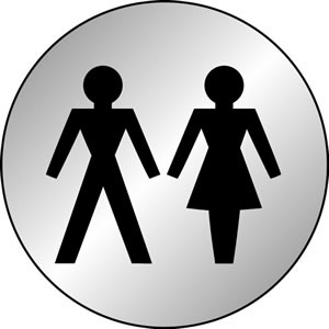 Males and female symbols sign.