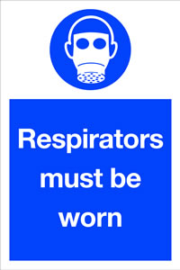Respirators must be worn sign.