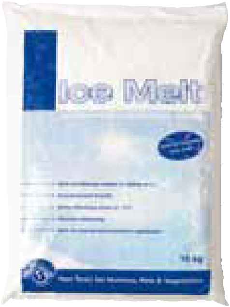 The cleanest way of de icing your workplace. Provides 10 times more coverage than de icing road grit. Non-corrosive de-icer is light, easy to spread leaves no residue. Will also guard against refreezing. Supplied in 10kg bags.