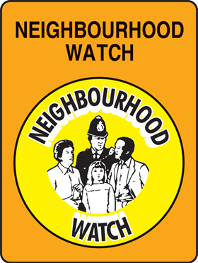 Neighbourhood watch sign.