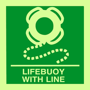 Lifebuoy with line sign.