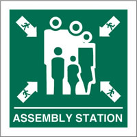 Assembly station sign.