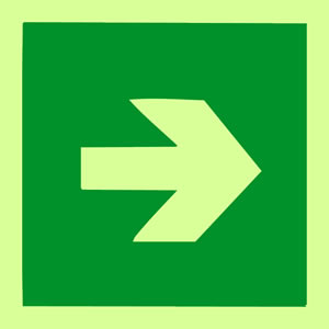 Straight arrow sign.