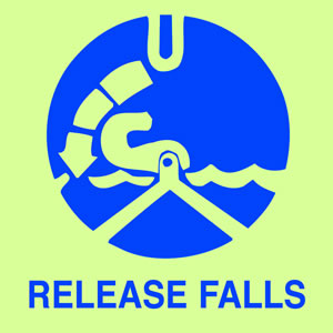 Release falls sign.