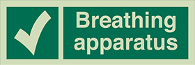 Breathing apparatus sign.