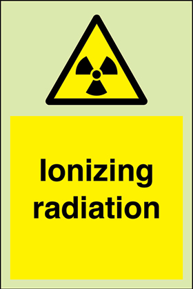 Ionizing radiation sign.