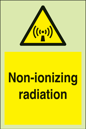 Non-ionizing radiation + symbol sign.