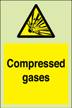 Compressed gasses + symbol sign.