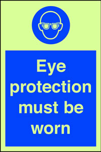 Eye protection must be worn sign.