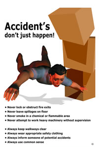 Accidents dont just happen encapsulated wall chart.